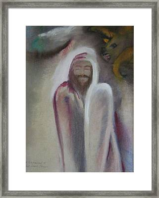Framed Print featuring the painting The Temptation Of Our Lord by Carrie Maurer