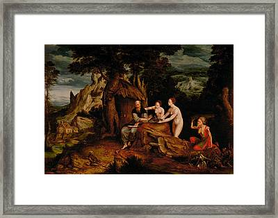 The Temptation Of Saint Anthony  Framed Print by Cornelis Massys
