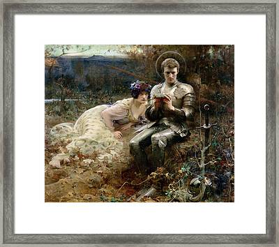 The Temptation Of Sir Percival Framed Print