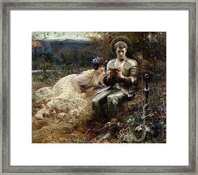 The Temptation Of Sir Percival Framed Print