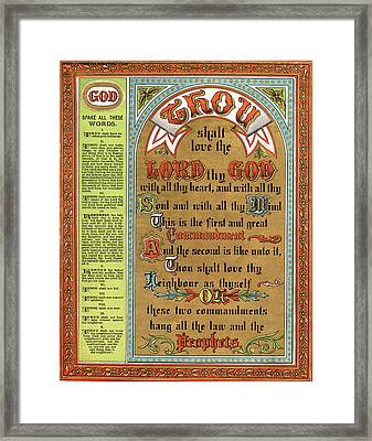 The Ten Commandments Framed Print by Pg Reproductions