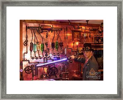 The Tender 2 Steampunk Interior Design 7 Atlanta Man-cave Art Framed Print