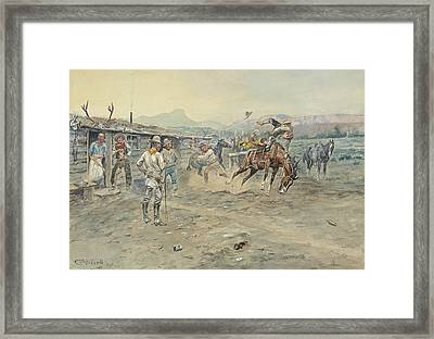 The Tenderfoot Framed Print by Charles Marion Russell