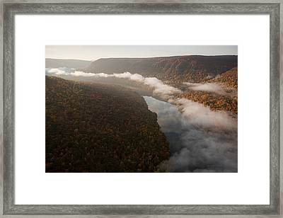 The Tennessee River Cuts Through Signal Framed Print by Stephen Alvarez