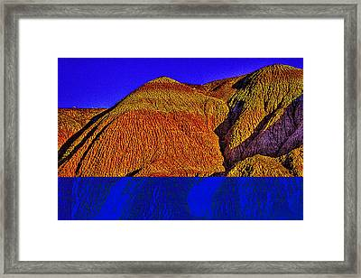 The Tepees Up Close Framed Print