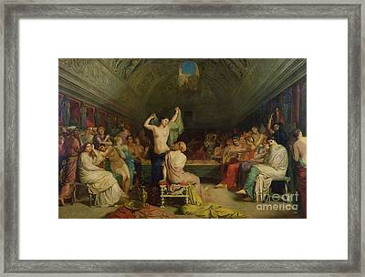 The Tepidarium Framed Print by Theodore Chasseriau