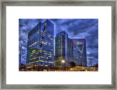 The Terminus Complex Cousins Property Buckhead Atlanta Art Framed Print by Reid Callaway