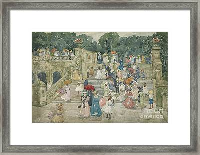 The Terrace Bridge, Central Park Framed Print by Maurice Brazil Prendergast