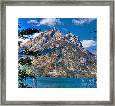 Framed Print featuring the photograph The Teton Gem by Robert Pearson