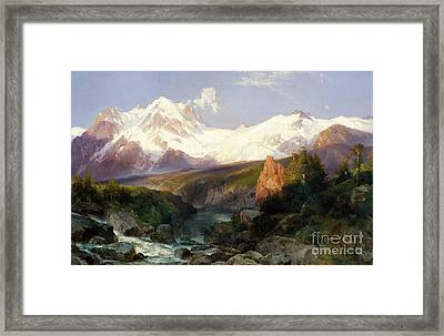 The Teton Range, 1897 Framed Print by Thomas Moran