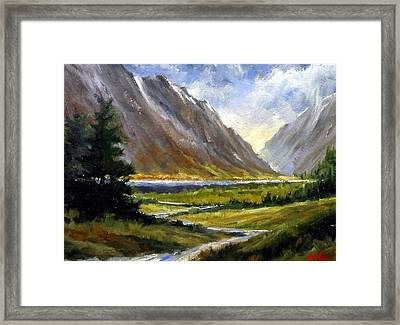The Tetons 05 Framed Print