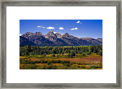 The Tetons II Framed Print by Robert Bales