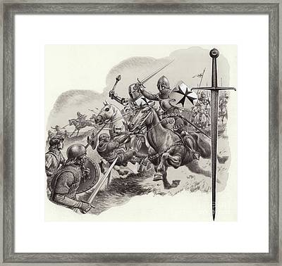 The Teutonic Knights Framed Print by Pat Nicolle
