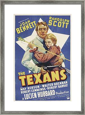 The Texans, Randolph Scott, Joan Framed Print by Everett