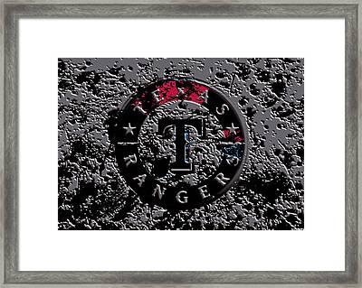 The Texas Rangers 1b Framed Print by Brian Reaves