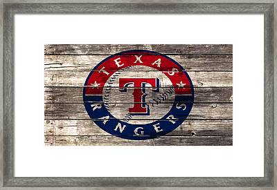 The Texas Rangers 4a Framed Print by Brian Reaves