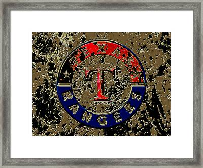 The Texas Rangers 6a Framed Print by Brian Reaves