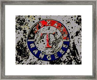 The Texas Rangers 6b Framed Print by Brian Reaves