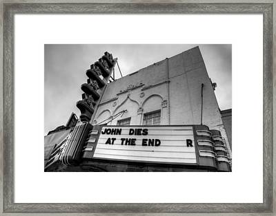The Texas Theatre Framed Print by Mark Alder
