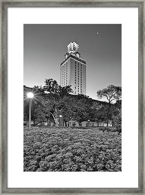 The Texas Tower By Moonlight Framed Print