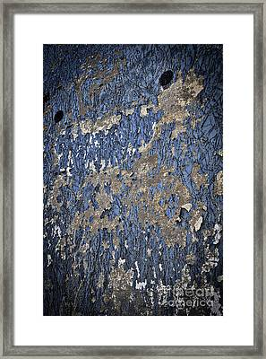 The Textures Of Time Framed Print by Skip Willits