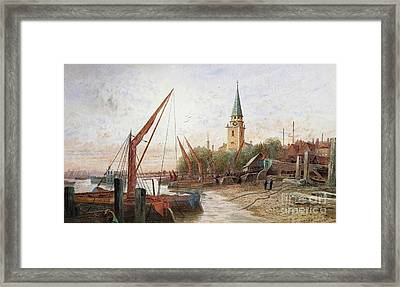 The Thames At Battersea Framed Print by MotionAge Designs
