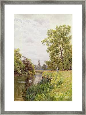 The Thames At Purley Framed Print by William Bradley