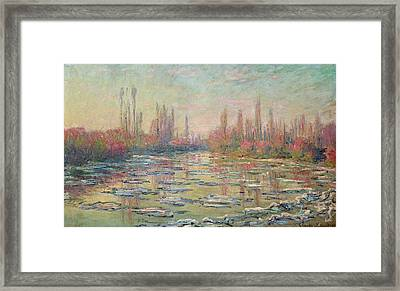 The Thaw On The Seine Framed Print by Claude Monet