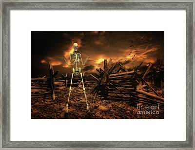 The Theatre Of War Framed Print by Nichola Denny