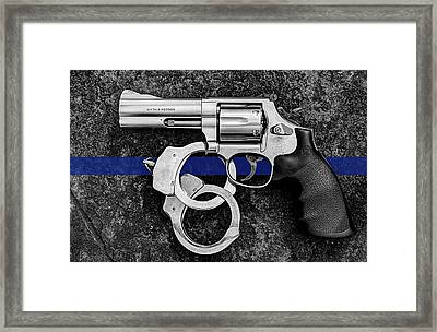 The Thin Blue Line Framed Print by JC Findley