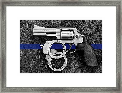 The Thin Blue Line Framed Print