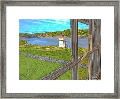 The Thin Line Between Real And Imagined Framed Print