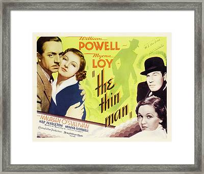 The Thin Man 1934 Framed Print