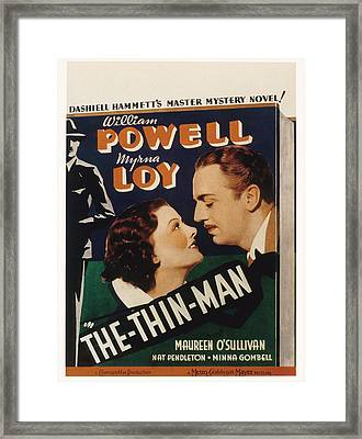 The Thin Man, Myrna Loy, William Framed Print