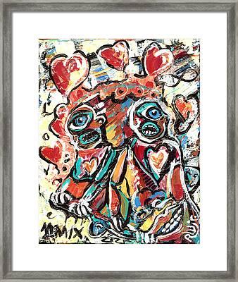 The Things We Do For Love Framed Print