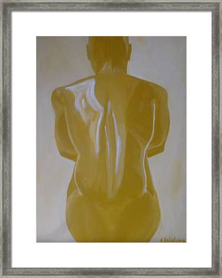 The Thinker Framed Print by Charleston  Scicluna