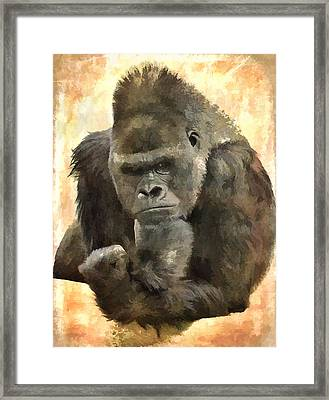 The Thinker Framed Print by Diane Alexander