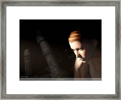 The Thinker Framed Print by Jim Coe