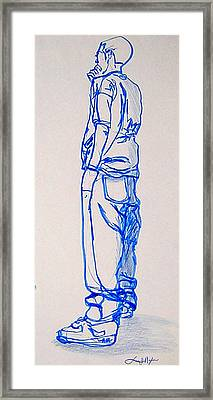 The Thinker Framed Print by Lee Nixon