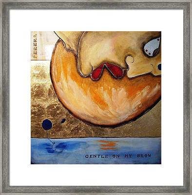 The Thinker Framed Print by Maarten Perera