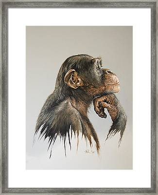 The Thinker Framed Print by Mario Pichler