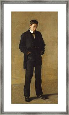 The Thinker, Portrait Of Louis N. Kenton Framed Print by Thomas Eakins