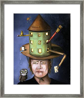 The Thinking Cap Framed Print