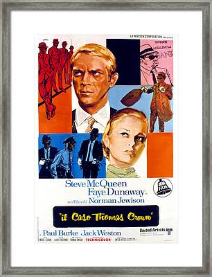 The Thomas Crown Affair, Italian Poster Framed Print by Everett