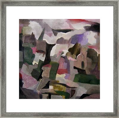 The Thoughts Of Cezanne Framed Print by Adolfo De Turris