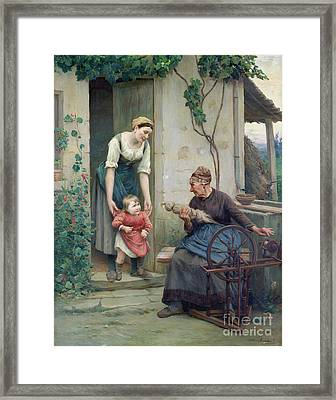 The Three Ages Framed Print by Jules Scalbert