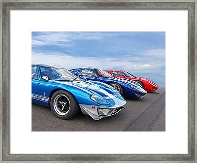 The Three Amigos - Ford Gt 40 Framed Print