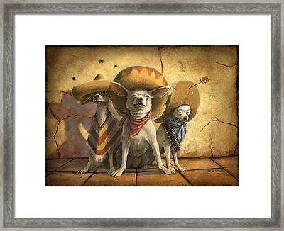 The Three Banditos Framed Print