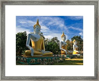 The Three Buddhas  Framed Print by Adrian Evans