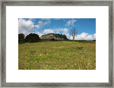 Framed Print featuring the photograph The Three Finger Mountain by Bruno Spagnolo